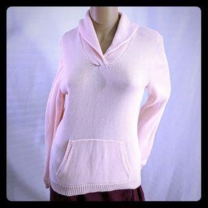 Ralph Lauren cotton shawl neck sweater pink M